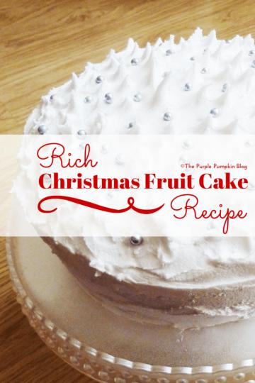 Rich Christmas Fruit Cake Recipe