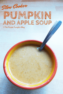 Slow Cooker Pumpkin + Apple Soup