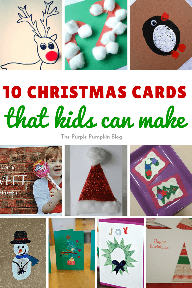 Awesome Free Christmas Card Ideas For Children To Make Part - 4: The Purple Pumpkin Blog
