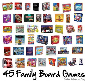 45 Family Board Games