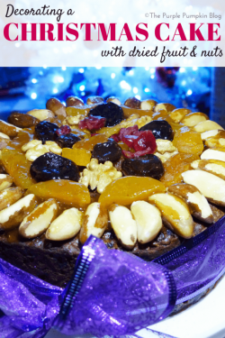 Nuts On Christmas Cake For Decoration : Recipes   The Purple Pumpkin Blog