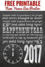 Free Printable New Years Eve Poster