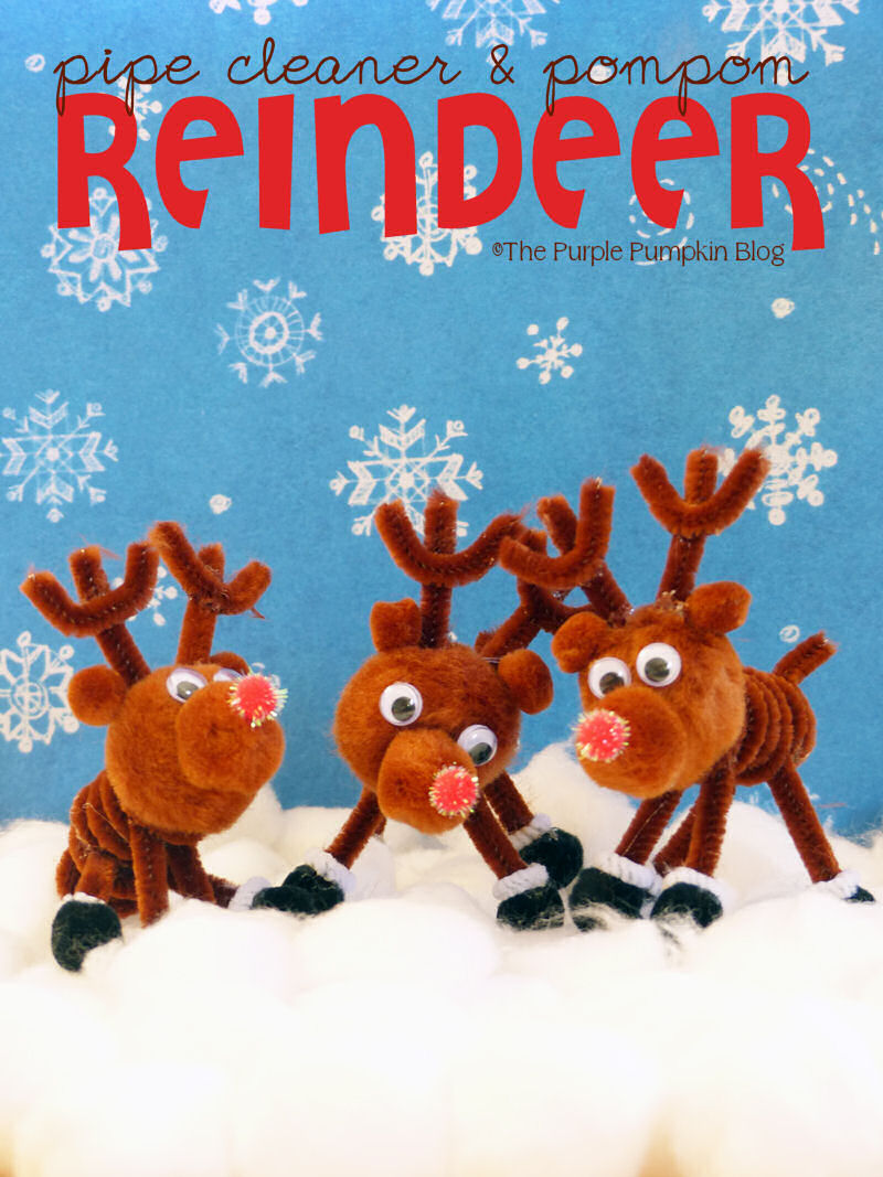 Pipe cleaner pom pom reindeer craft for Reindeer project