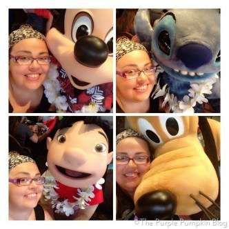 Breakfast at Ohana with Mickey Mouse Lilo Stitch Pluto