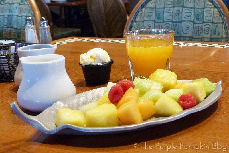 Fruit Platter at'Ohana Character Breakfast