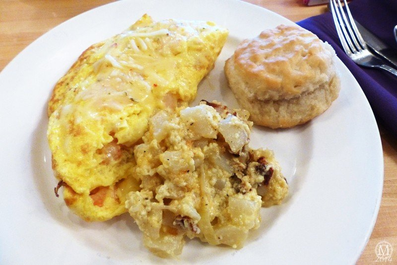 Conch Republic Omelette at Olivia's Cafe Breakfast at Old Key West