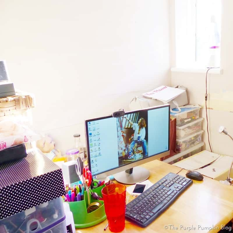 Organising A Home Office In A Small Space - Before