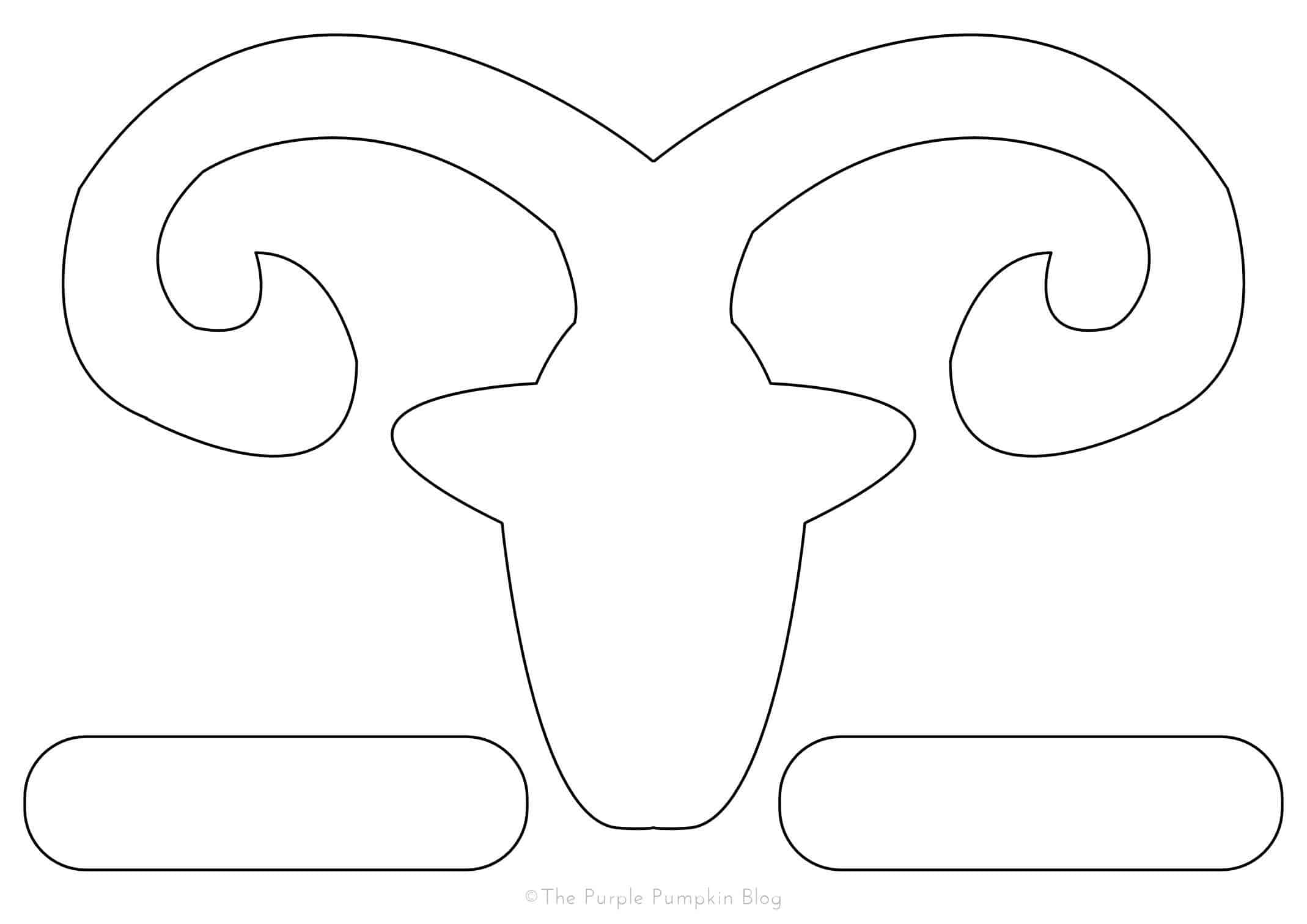 Chinese new year goat sheep outline template the purple for Cardboard sheep template