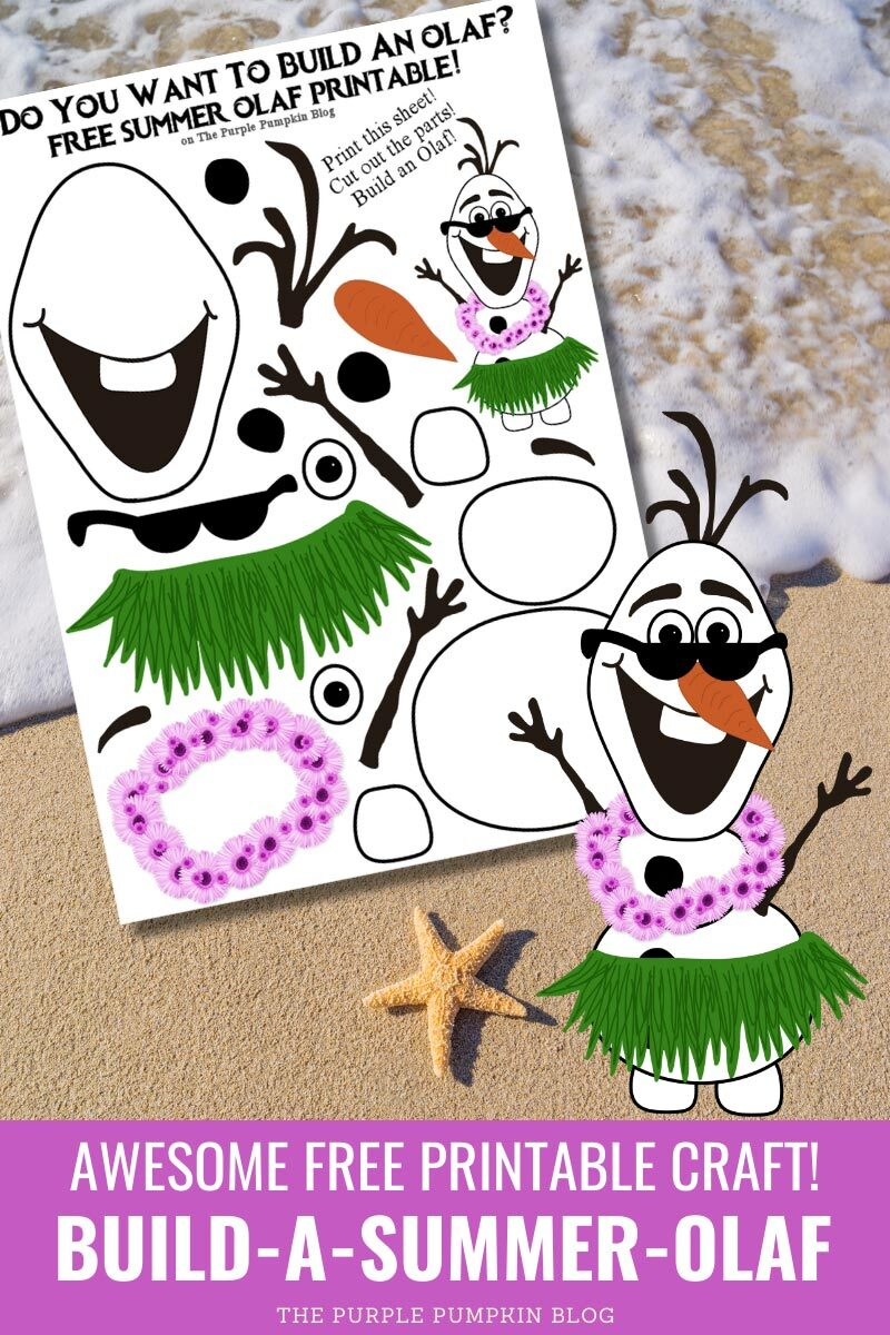 Build a Summer Olaf! Awesome Free Printable Craft