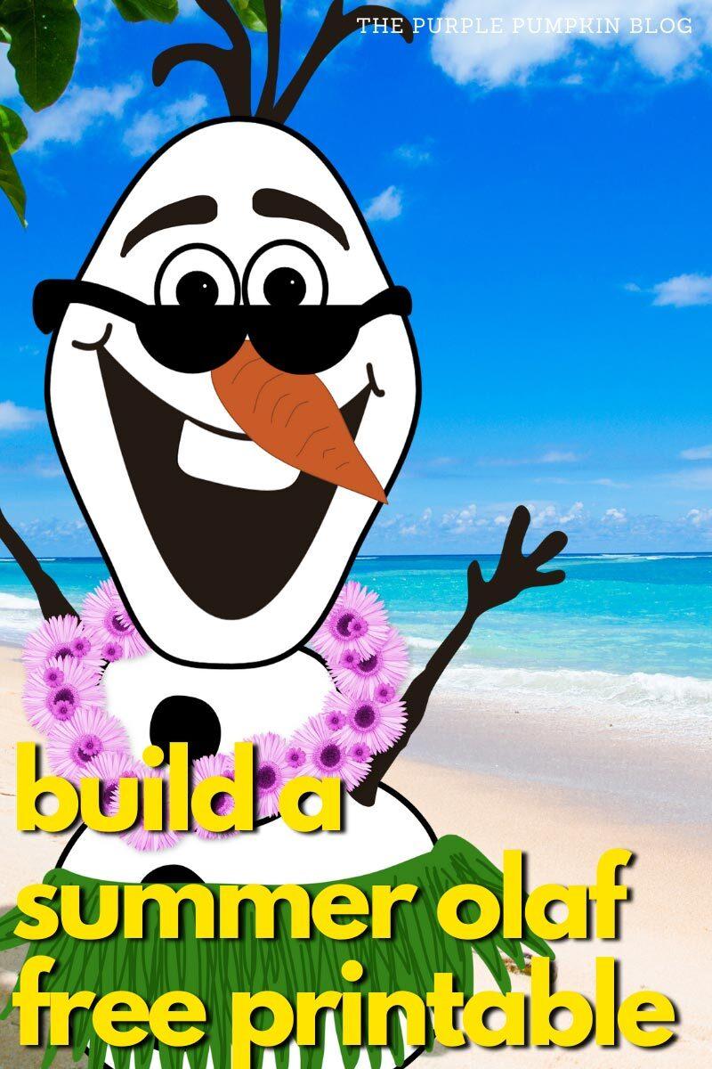 Build a Summer Olaf Free Printable