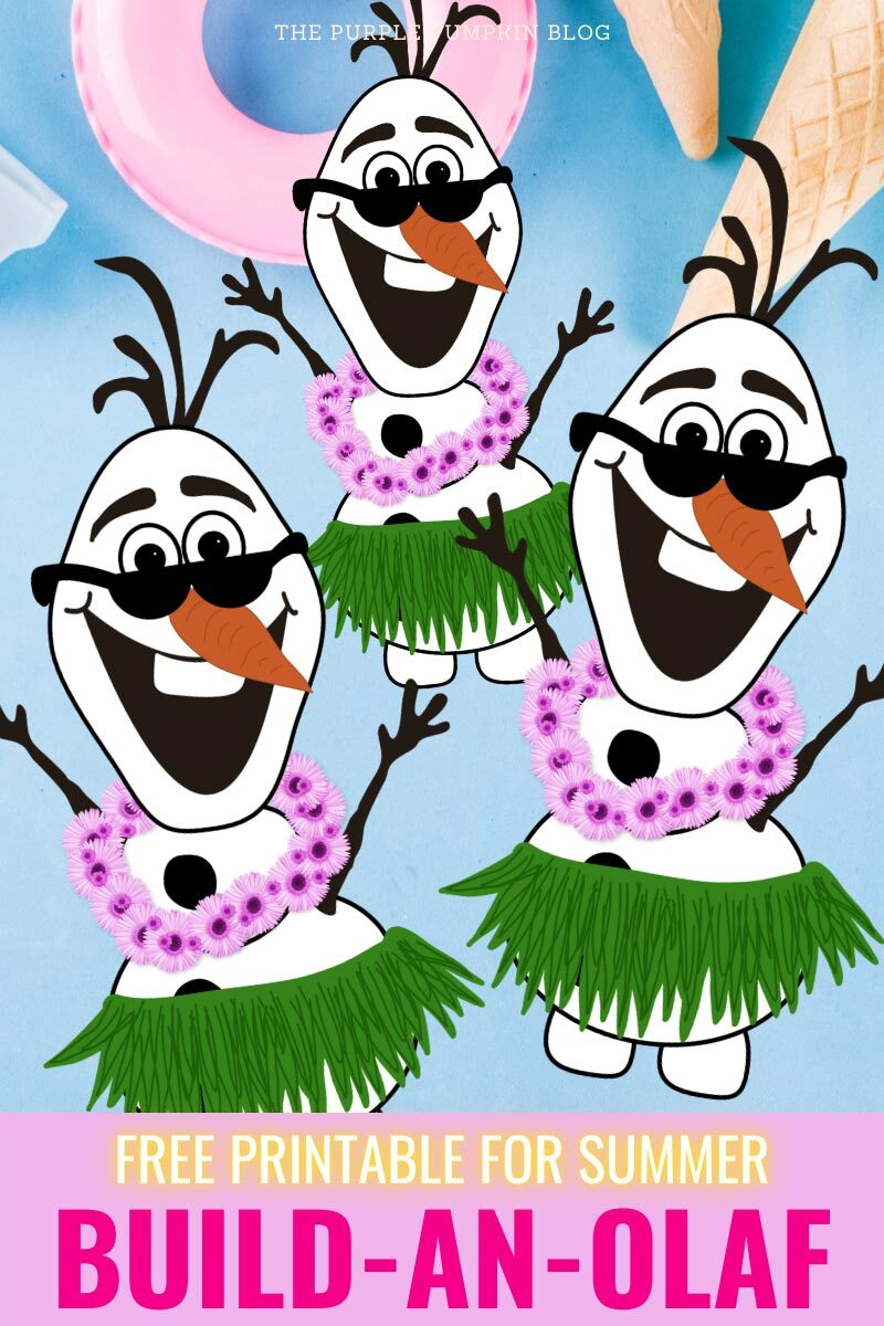 Build an Olaf Free Printable for Summer