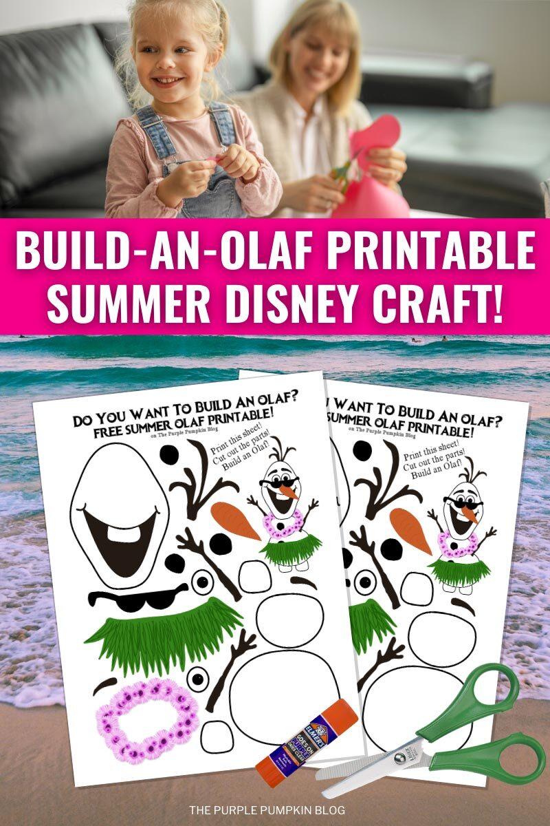 Build an Olaf Printable Summer Disney Craft