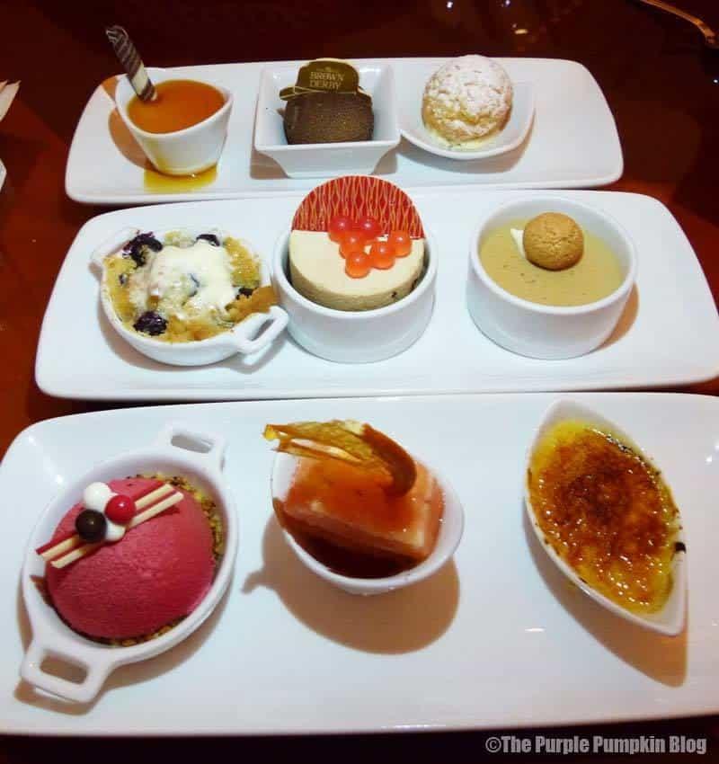 Dessert Trio at Hollywood Brown Derby