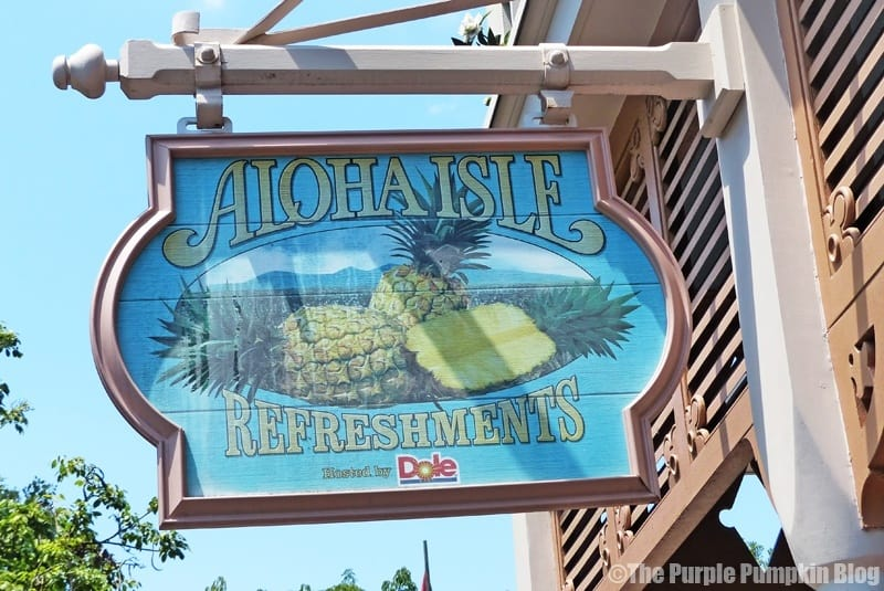 Dole Whip at Aloha Isle