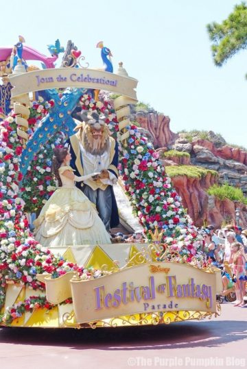 Beauty & The Beast - Festival of Fantasy Parade at Disney's Magic Kingdom