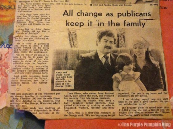 Newspaper Cutting - Step Back In Time