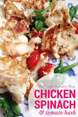 Chicken, Spinach + Tomato Hash