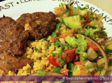 Spiced Lamb with Mashed Chick Peas