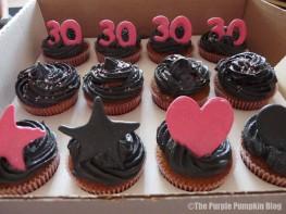Black & Pink 30th Birthday Cupcakes