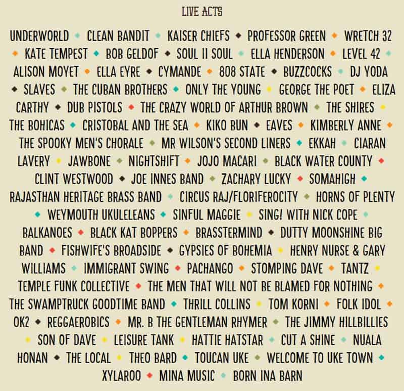 Camp Bestival Live Acts 2015