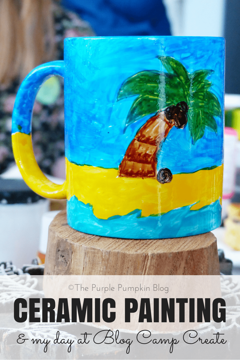 Ceramic painting my day at blog camp create for Ceramic mural paintings