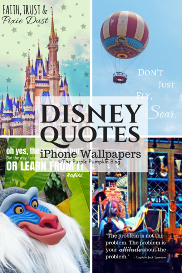 Disney Quotes iPhone Wallpapers - download these for free!