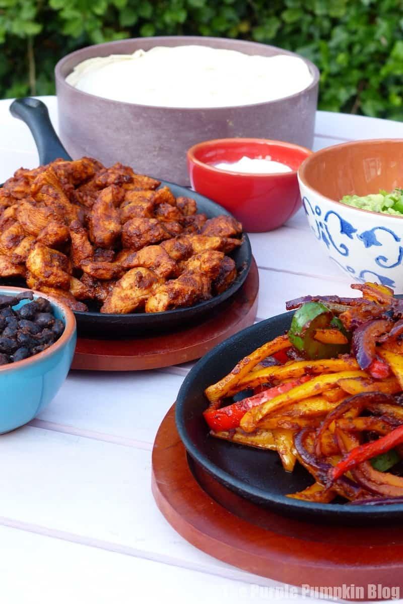 Mexican Chicken Fajitas made with Santa Maria