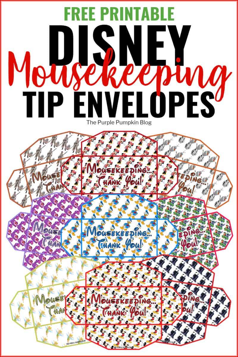 Free Printable Disney Mousekeeping Envelopes