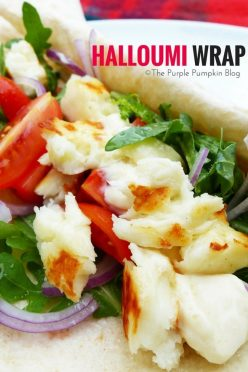 Cypriot Halloumi Wrap - so quick and simple to make!