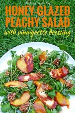 Honey-Glazed Peach Salad with Vinaigrette Dressing