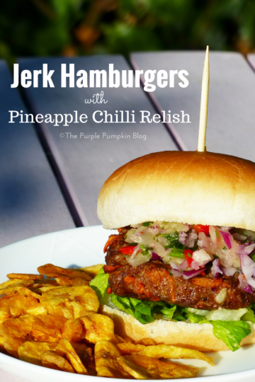 Jerk Hamburgers with Pineapple Chilli Relish