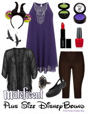 Maleficent - Plus-Size DisneyBound - for when you dont want to dress up in a costume, but still want to have that Disney magic for your outfit! This would be perfect for Mickeys Not So Scary Halloween Party!