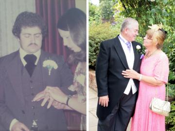 Mum and Dad - Ruby Wedding Anniversary