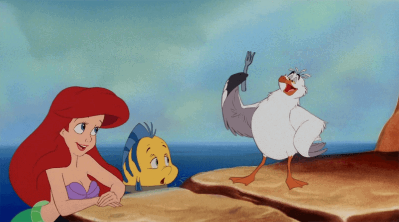 Little Mermaid, Flounder + Scuttle