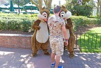 Meeting Chip'n' Dale at Epcot