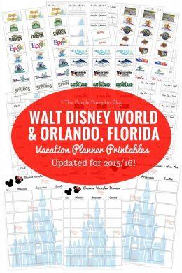 Walt Disney World + Orlando Florida Vacation Planner Printables