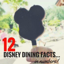 12 Disney Dining Facts... In Numbers! How many turkey legs? How many Mickey Ice Cream Bars? Find out here!