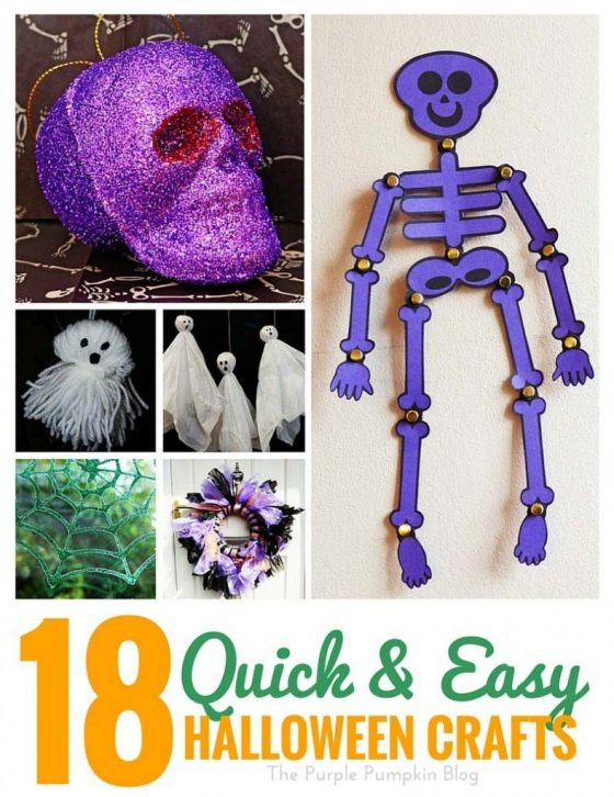 18 Quick and Easy Halloween Crafts