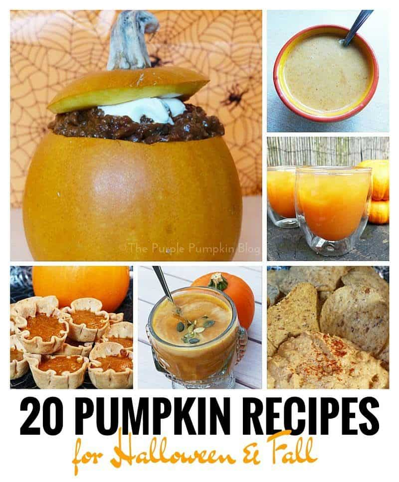 20 Pumpkin Recipes for Halloween + Fall – Crafty October Day 4