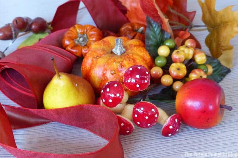 Autumn Leaf Wreath Supplies