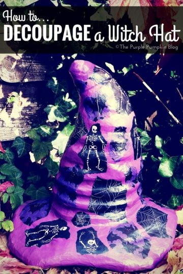 How to Decoupage a Witch Hat