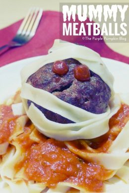Mummy Meatballs with Tagliatelle