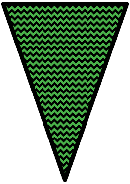 The Nightmare Before Christmas - Green - Pennants