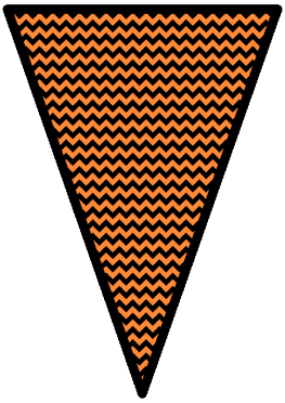 The Nightmare Before Christmas - Orange - Pennants