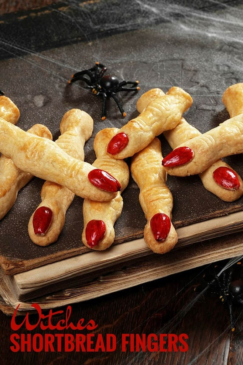 Witches Shortbread Fingers - a spooky treat for Halloween!