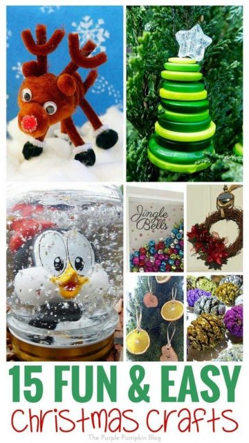 15 Fun + Easy Christmas Crafts - lots of great ideas to get crafty for the festive season!