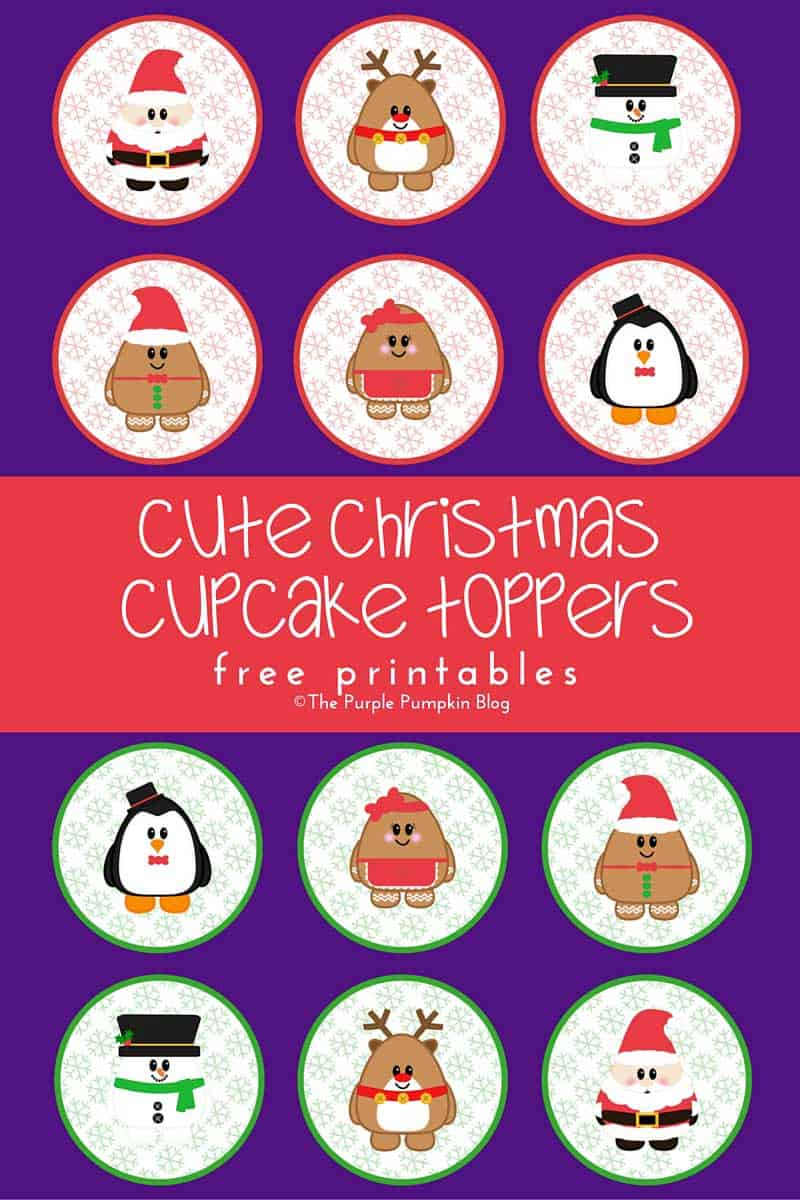 Cute Christmas Cupcake Toppers Free Printables The