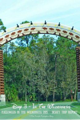 Day 3 In The Wilderness - Halloween In The Wilderness 2015 - Disney Trip Report