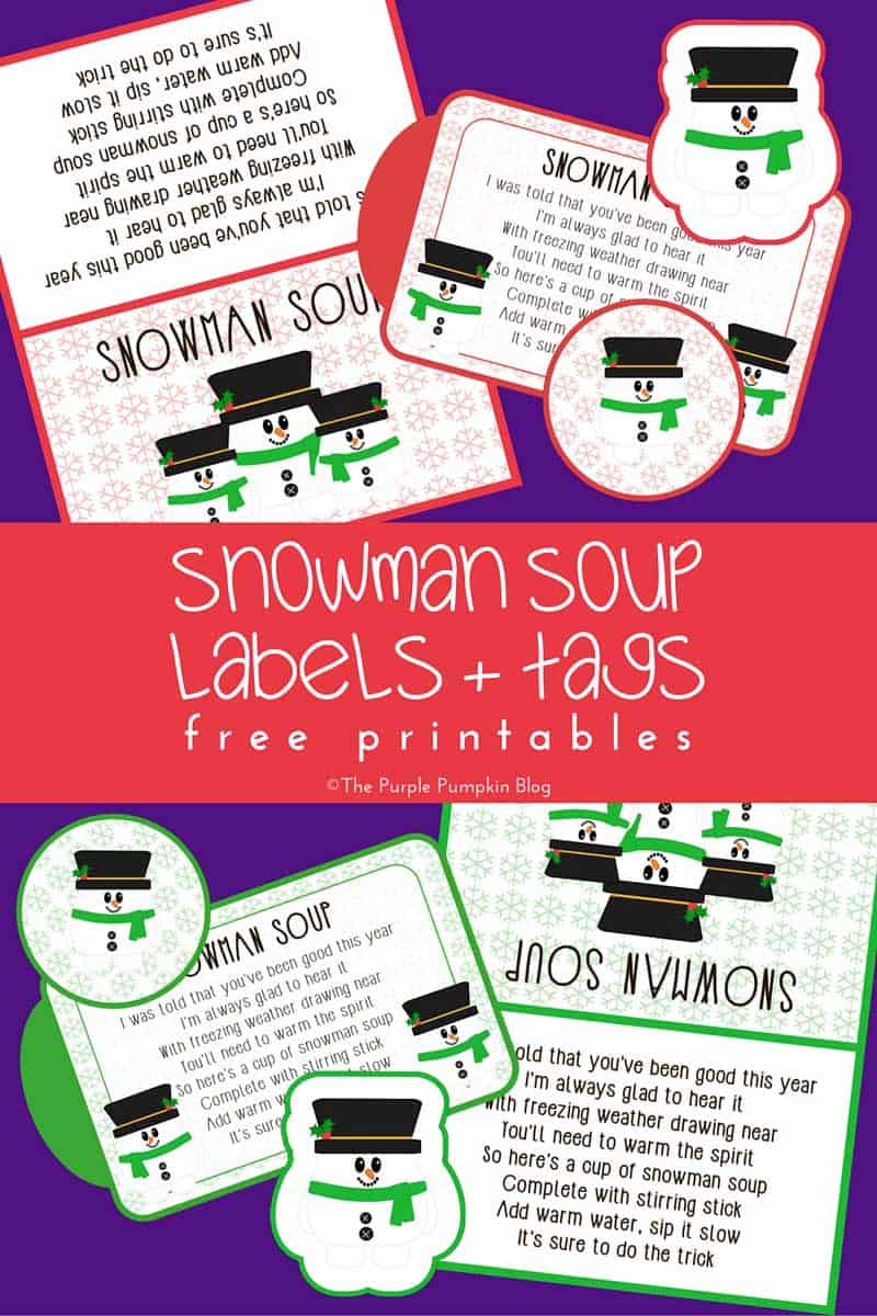 Snowman Soup Labels / Free Printables