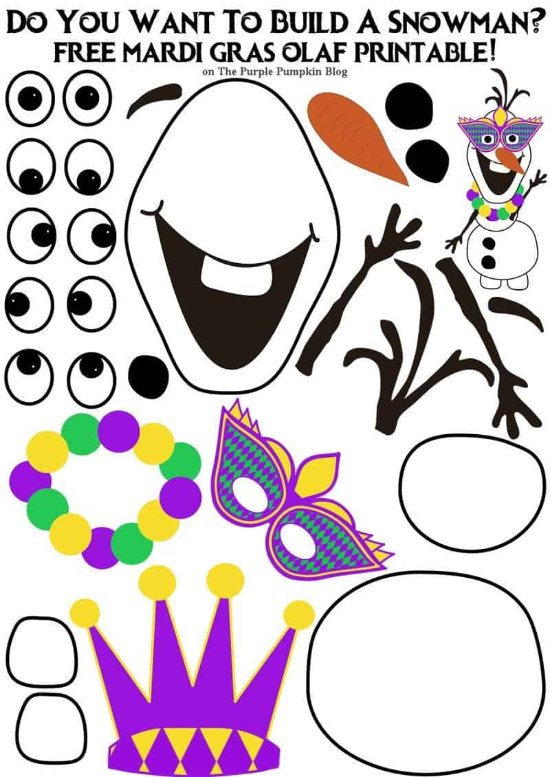 This is an image of Exceptional Free Olaf Printable